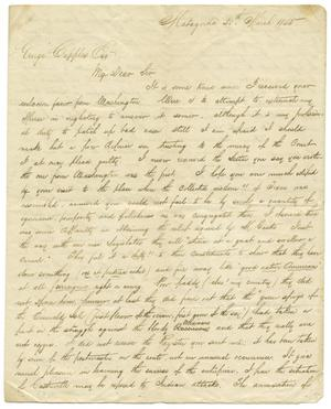 Primary view of object titled 'Letter from William L. Delap to George Cupples, March 20, 1845'.