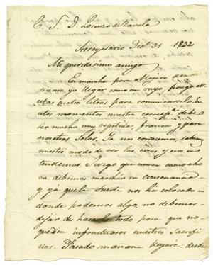 Primary view of [Letter from Mexia to Zavala, December 31, 1832]