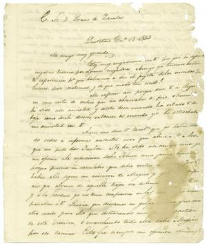 Primary view of object titled '[Letter from Mexia to Zavala, December 12, 1832]'.