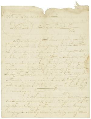 Primary view of object titled '[Letter from Casanueva to Zavala, December 18, 1830]'.
