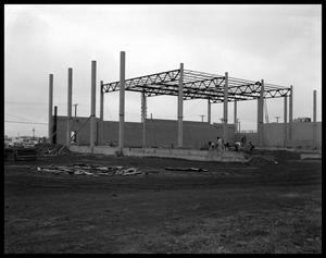 Primary view of object titled 'Construction of New Westwood Theater'.