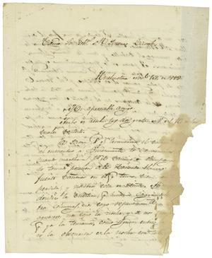 Primary view of object titled '[Letter from Mexia to Zavala, November 14, 1832]'.