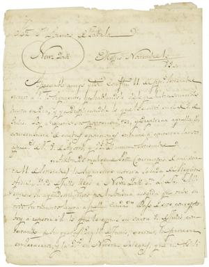 Primary view of object titled '[Letter from Mexia to Zavala, November 10, 1832]'.