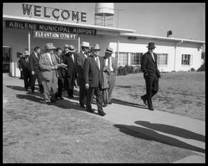 Primary view of object titled 'Ed Connally at Abilene Municipal Airport'.
