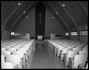 Primary view of object titled 'Sanctuary of Pioneer Drive Baptist Church'.