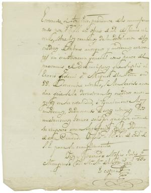 Primary view of object titled '[Letter from Casanueva to Zavala, July 5, 1830]'.