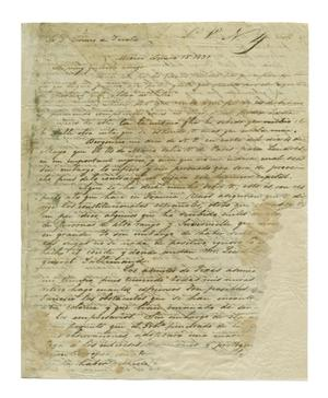 Primary view of object titled '[Letter from Jose Antonio Mexia to Lorenzo de Zavala, June 15, 1831]'.