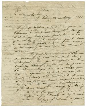 Primary view of object titled '[Letter from Lorenzo de Zavala to his son, May 28, 1836]'.