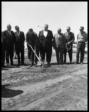 Primary view of object titled 'John Sayles Masonic Bldg Ground Breaking'.