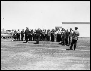 Primary view of object titled 'John Sayles Masonic Building Ground Breaking'.