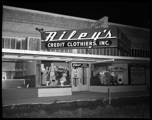 Primary view of object titled 'Riley's Credit Clothiers'.