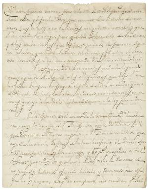 Primary view of object titled '[Letter from Casanueva to unknown person, perhaps Zavala, April 19, 1829]'.