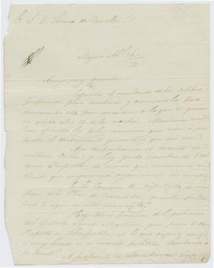 Primary view of object titled '[Letter from Mexia to Zavala, April 16, 1833'.
