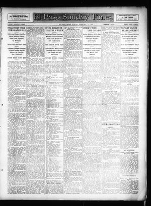 Primary view of object titled 'El Paso Sunday Times (El Paso, Tex.), Vol. 26, Ed. 1 Sunday, February 17, 1907'.
