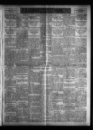 Primary view of object titled 'El Paso Sunday Times (El Paso, Tex.), Vol. 25, Ed. 1 Sunday, April 16, 1905'.