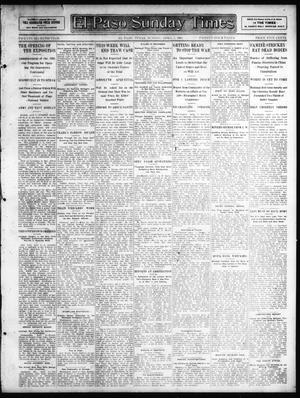 Primary view of object titled 'El Paso Sunday Times (El Paso, Tex.), Vol. 27, Ed. 1 Sunday, April 7, 1907'.