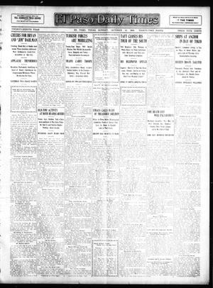 Primary view of El Paso Sunday Times (El Paso, Tex.), Vol. 28, Ed. 1 Sunday, October 18, 1908