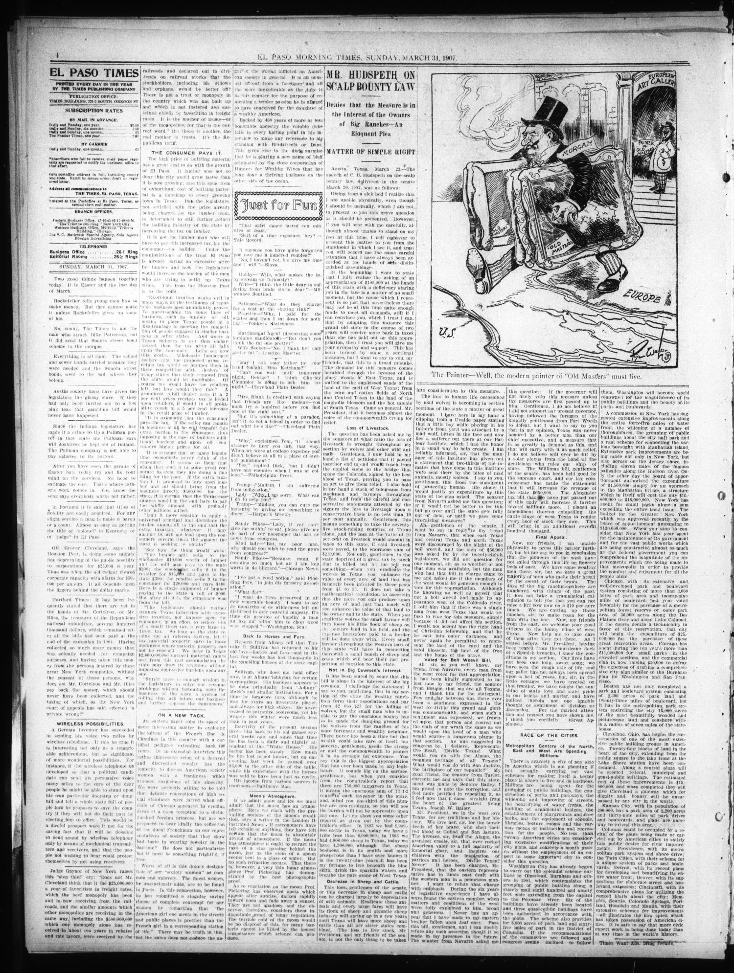 El Paso Sunday Times (El Paso, Tex ), Vol  26, Ed  1 Sunday