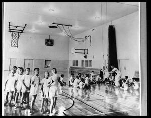 Primary view of object titled 'Children in New Y. M. C. A. Gym #1'.