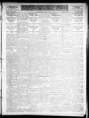 Primary view of object titled 'El Paso Sunday Times (El Paso, Tex.), Vol. 26, Ed. 1 Sunday, March 3, 1907'.