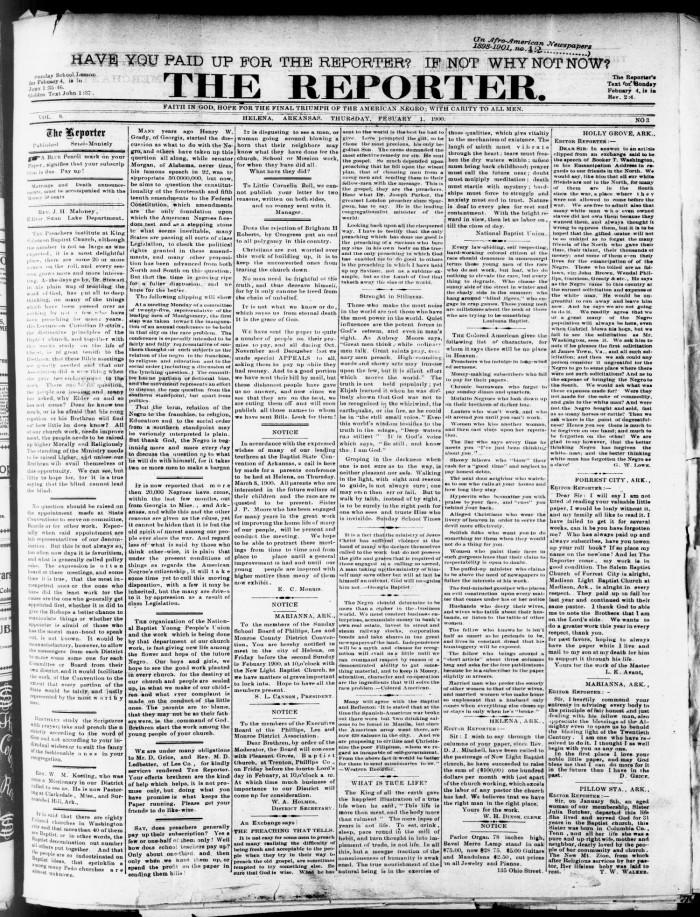 Black Newspaper Reporter