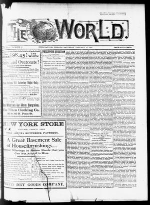 Primary view of object titled 'The Indianapolis World. (Indianapolis, Ind.), Vol. 18, No. 30, Ed. 1 Saturday, January 27, 1900'.