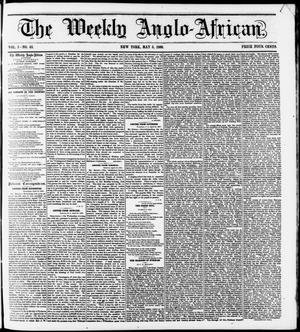 Primary view of object titled 'The Weekly Anglo-African. (New York [N.Y.]), Vol. 1, No. 42, Ed. 1 Saturday, May 5, 1860'.