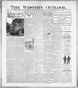 Primary view of The Western Outlook. (San Francisco, Oakland and Los Angeles, Calif.), Vol. 22, No. 44, Ed. 1 Saturday, July 22, 1916