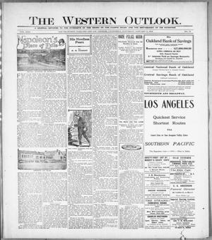 Primary view of The Western Outlook. (San Francisco, Oakland and Los Angeles, Calif.), Vol. 22, No. 16, Ed. 1 Saturday, January 8, 1916