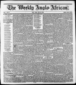 Primary view of object titled 'The Weekly Anglo-African. (New York [N.Y.]), Vol. 1, No. 2, Ed. 1 Saturday, July 30, 1859'.