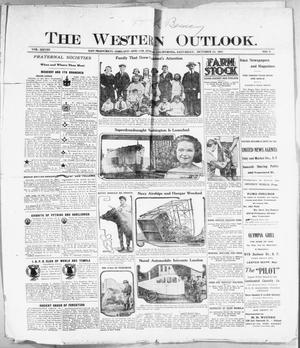 Primary view of The Western Outlook. (San Francisco, Oakland and Los Angeles, Calif.), Vol. 28, No. 6, Ed. 1 Saturday, October 22, 1921