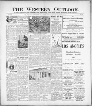 Primary view of The Western Outlook. (San Francisco, Oakland and Los Angeles, Calif.), Vol. 22, No. 15, Ed. 1 Saturday, January 1, 1916