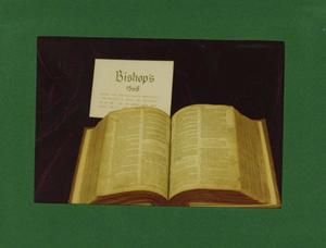 Primary view of object titled '[Photograph of Bishop's Bible]'.