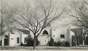 Primary view of object titled '[Photograph of North Side Church of Christ]'.