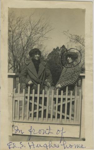 Primary view of object titled '[Photograph of Women in Front of Fence]'.