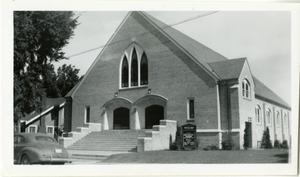 Primary view of object titled '[Photograph of Fayetteville Church]'.