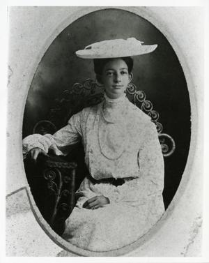 Primary view of object titled '[Portrait of Mrs. A.B. Barrett]'.