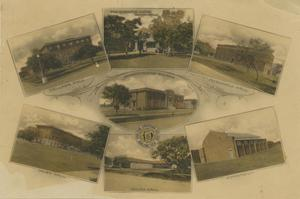 Primary view of object titled '[Collage of Abilene Christian College Buildings]'.
