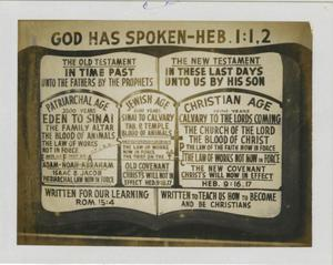 Primary view of object titled '[Photograph of a Church of Christ Sign]'.