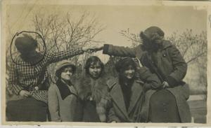 Primary view of object titled '[Photograph of Women in Coats]'.