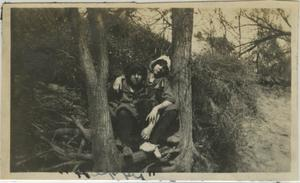 Primary view of object titled '[Photograph of Women in Tree]'.