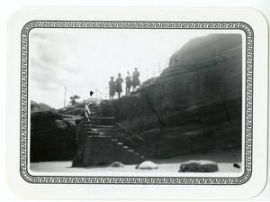 Primary view of object titled '[Photograph of Rock Formation Trail]'.