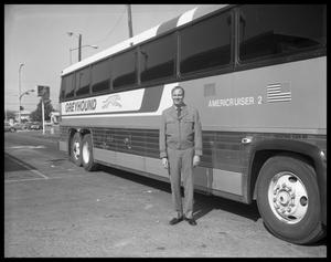Primary view of object titled 'Greyhound Bus and Driver #1'.