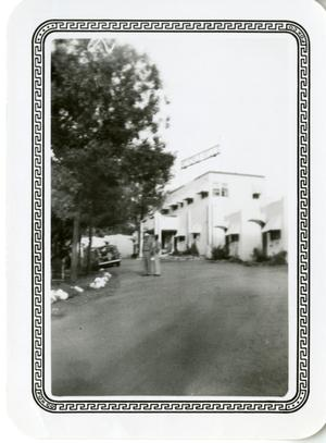 Primary view of object titled '[Photograph of Dorothy Lamour Cottages]'.