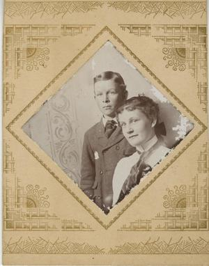 Primary view of object titled '[Portrait of Boy and Young Woman in Diamond-Shaped Frame]'.