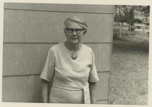 Primary view of object titled '[Photograph of Woman Wearing a Brooch]'.