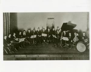 Primary view of object titled '[Photograph of Abilene Christian College Orchestra]'.