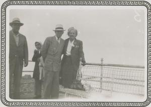 Primary view of object titled '[Photograph of Group at Tourist Stop]'.