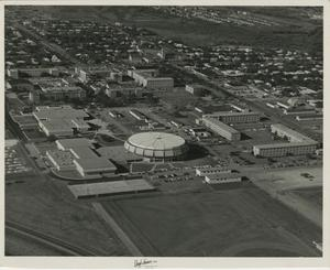 Primary view of object titled '[Aerial Photograph of Abilene Christian College Campus]'.