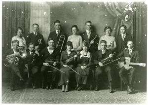 Primary view of object titled '[Photograph of 1919 Orchestra]'.